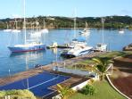 View of Prickly Bay Marina from the roof terrace