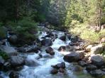 Stumble upon gushing rivers as you have a stroll up the mountain, take a picnic