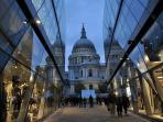 St Pauls for stunning views & One New Change for great shopping and dining