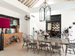 Indoor / outdoor dining, seats 10 comfortably