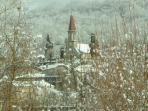 Ore church in winter.