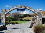 The gate to Villa Assa's heaven