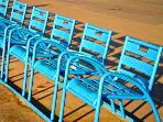 The Promenade des Anglais  - iconic blue chairs