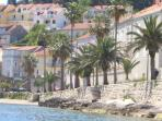 Scenic coast walk from Villa Jade to Old town Korcula