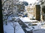 South View garden in the snow