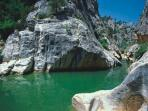 Swim in the cool waters of the Gorge at Font Calde