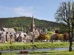 Peebles on the banks of the River Tweed
