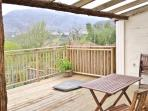 Raised deck, take in the mountains over morning coffee or evening drinks