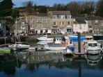 Padstow Harbour 1 mile from the cottage