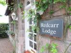 Redcarr Lodge, front entrance