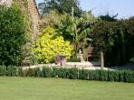 Garden fountain with ducks