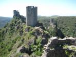 The Chateaux de Lastours 15 minutes away