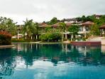 Beautiful, free form swimming pool