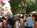 Market Day in Place Carnot, Carcassonne