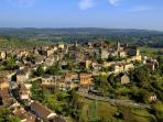 The beautiful town of Belves, 7 minutes from the house.