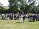 July wedding reception at Orchard Lee