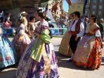 Fallas Queens process all year round -any excuse to dress-up!