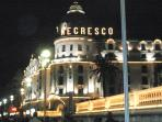 The Negresco at night - the apartment is just behind this landmark!