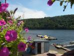 Beau Rivage at Lac de Guerledan where you can hire Pedaloes