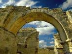 ancient ruins of Anogyra church