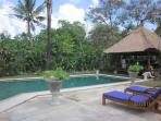 large size garden with Balinese bale