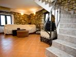 1.floor living room - the stairs to the attic