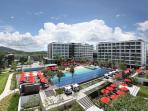 Hotel and Condominimum Areial View