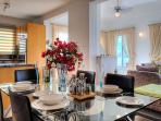 Entertain the family and dine in on the large 6 seater dining table.