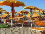 Servizio spiaggia sempre compreso nel prezzo