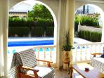 ENCLOSED TERRACE POOL VIEW