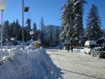 Borovets and view leading to the apartment
