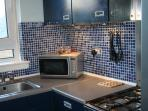 Small but well-equipped kitchen