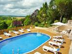 Pool view, surrounded by 5 acres of private land and country views