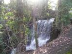 The waterfall/beck running through Lindale