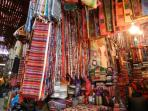 Shopping in the souks, just a short walk from Riad Shaden