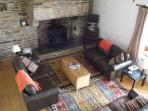 Interior lounge with log burner