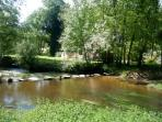 River Lie, just a short walk from La Petite Longere