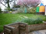 BayMount, Patio & Large Back Garden. 8ft Trampoline with safety curtain, under the Circus Tent, Also