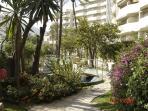 Benal Beach garden path