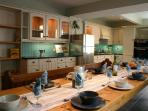Large fully equipped Kitchen-Diner with seating for upto 13