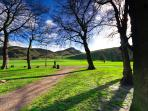 Holyrood Park - 5 minute walk from the flat