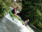Possibilité de louer des canoe à 7km du gîte