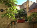 The pretty view from the terrace onto the old buildings of Pezenas. Perfect to see but not be seen.