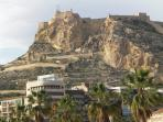 The Rock at Calpe with harbour