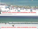 Uncrowded beach compared to typical Destin Condo beaches