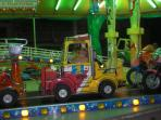 One of the local fun fairs for the children
