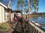 Riverside tea rooms by the River Arun at Arundel