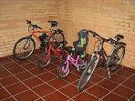 Feel free to borrow our bikes :)