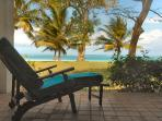 Daydream in front of this beautiful beach view