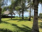 NEW : 3 hammocks to relax under the coconot trees.